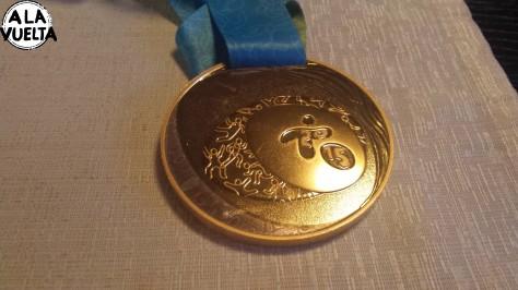 La medalla de oro de Uruguay en los Juegos Panamericanos 2015, la tenía el Mauri Lemos en Rusia y A la Vuelta la usó...