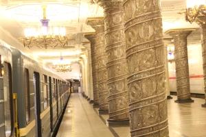 Las estaciones de metro deslumbran por su belleza.