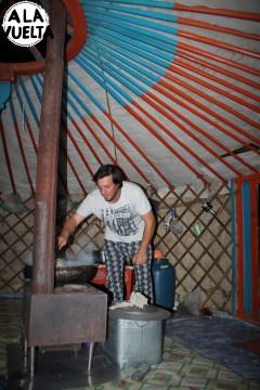 Germán cocina en el