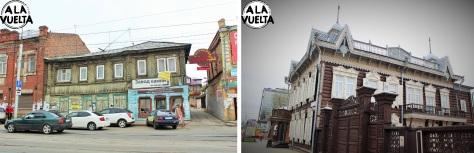 Casas de madera, antiguas y recientes pero siempre con el mismo estilo