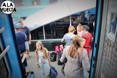 Se pone pesado el tránsito en los vagones