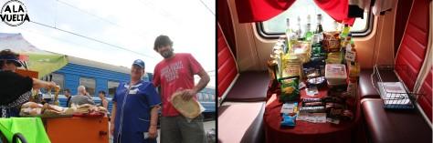 En las paradas o en el restaurante del tren, siempre se pueden reponer provisiones.