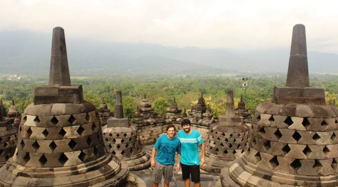 Tremendo templo en Yogyakarta